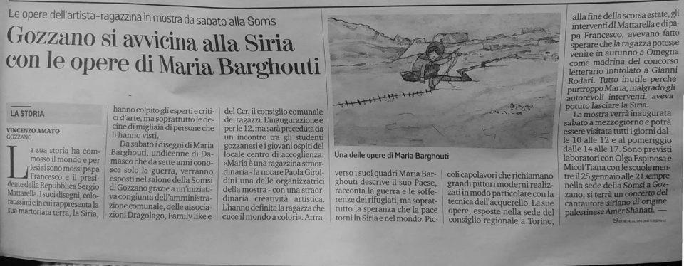 Maria Barghouti da la Stampa